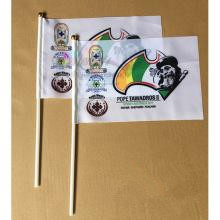 Latest Cheap Printing Knitted Polyester Custom Hand Flags