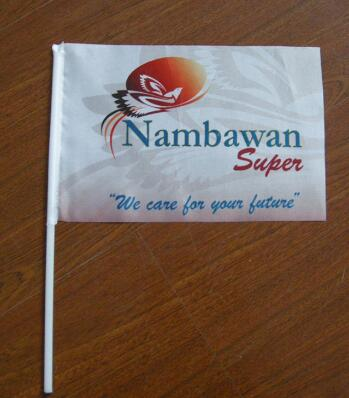 Activity Usage Gift Custom Cheap Hand Shaking Flags with Logo