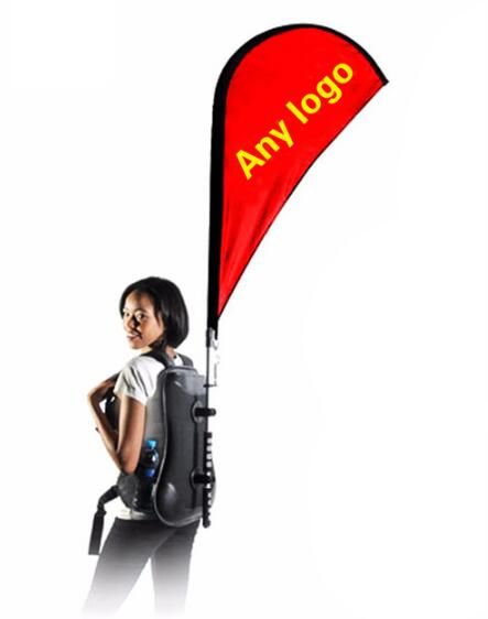 Top Quality Advertising Backpack Feather Flag